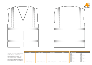 Hi visibility vest template
