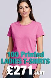 100 x Gildan Ladies Heavy Cotton™ T-Shirts Deal