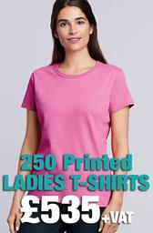 250 x Gildan Ladies Heavy Cotton™ T-Shirts Deal