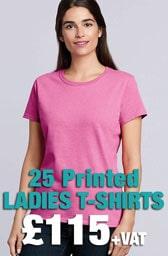 25 x Gildan Ladies Heavy Cotton™ T-Shirts Deal