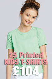 25 x Gildan Kids Softstyle® Ringspun T-Shirts Deal