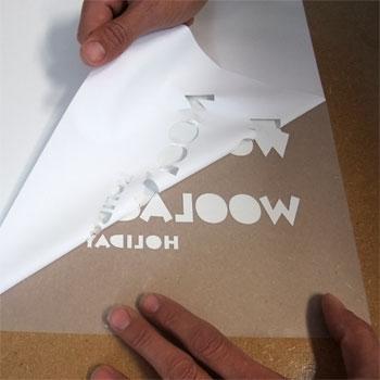 photo of vinyl-transfer process